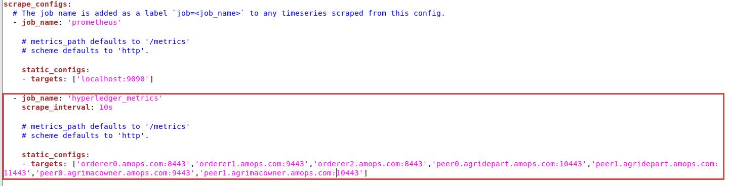监控Hyperledger Fabric的运行参数详细流程 Prometheus+Grafana方案